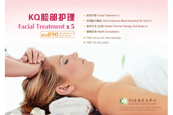 KQ NATURAL FACIAL TREATMENT PACKAGE